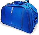 Safari Polyester U-shapped REVV RDFL 55 Blue Color Travel Duffle for Unisex with 2 Wheel System