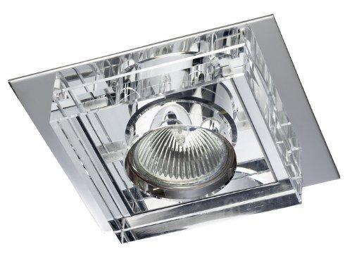 Foco empotrable cuadrado en cristal, colección Dunne de CRecord, color Espejo