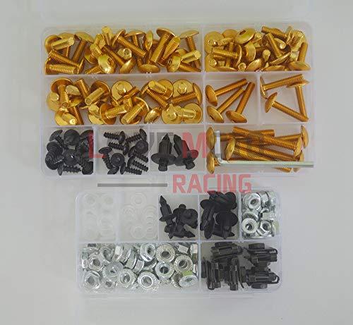 LoveMoto Kompletter Motorrad-Schraubensatz für die Verkleidung ZX6R ZX-6R Ninja 636 2005 2006 Alu-Schrauben Befestigungsklammern Golden Silber