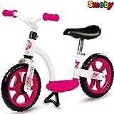 Metall Laufrad Girl mit Flüsterräder, Trittbrett und Ständer, ab 2 Jahren | Mädchen Lernlaufrad Kinderbike Lauflernrad Gleichgewicht