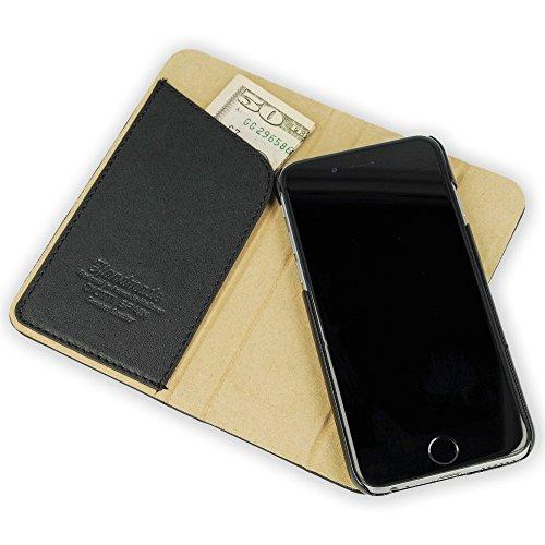 """QIOTTI >             APPLE iPHONE 6 / 6S (4,7"""")             < incl. PANZERGLAS H9 HD+ 2-in-1 Booklet mit herausnehmbare Schutzhülle, magnetisch, 360 Grad Aufstellmöglichkeit, Wallet Case Hülle Tasche handgefertigt aus hochwe SCHWARZ"""