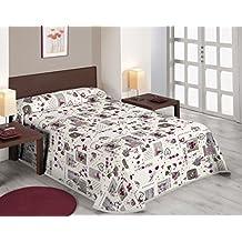 Sabanalia Love - Colcha estampada (disponible en varios tamaños), para cama 90 - 180 x 280 cm, multicolor