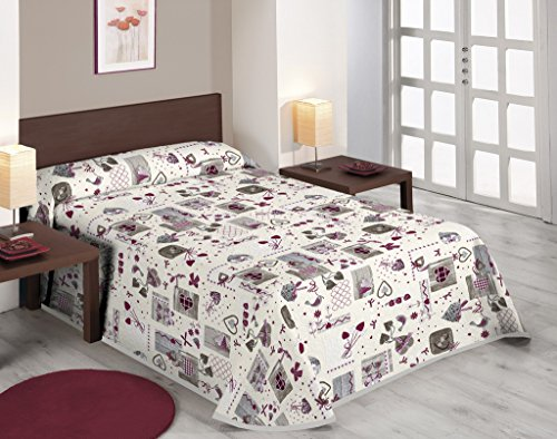 Sabanalia Love - Colcha estampada (disponible en varios tamaños), para cama 90...