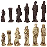 Toscano Götter der griechischen Mythologie, einem Thema Schachspiel mit Schachfiguren