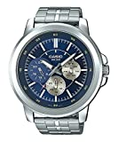 Casio MTP-X300D-2EV Men's Enticer Stainless Steel Multifunction Blue Dial Watch