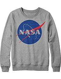 Sweatshirt NASA Interstellar Galaxy Astronaut Space Hipster Dreieck Triangle Noir Nebula Sterne H970011