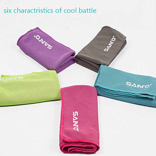 Wingogo Cooling Gym Sweat Towel Special Microfibres Super Absorbant for Soaking up Sweat and Instant Relief from Over Heating during Intense Exercise for All Sports and Exercise