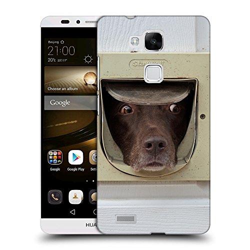 GoGoMobile TPU Gel Funda Carcasa Tapa Case Cover para // F00037021 Cioccolato labrador in catflap // Huawei Ascend Mate 7