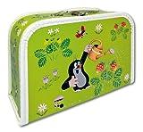 """Koffer 30 cm - Puppenkoffer Kinderkoffer """"Krtek"""" der kleine Maulwurf in hellgrün"""