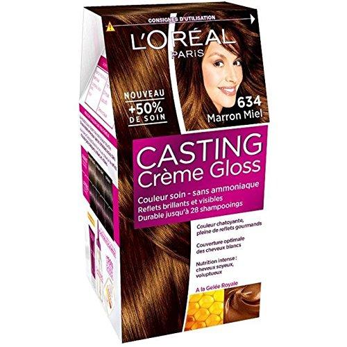 L'OREAL - Coloration - CASTING CRÈME GLOSS - Couleurs chatain et foncé - 634_marron miel