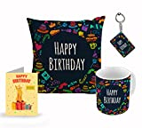 #4: Style Crome Happy Birthday Cushion Cover 12 X 12 With Filler, Ceramic Mug 350Ml, Greeting Card And Key Chain For Birthday Gift