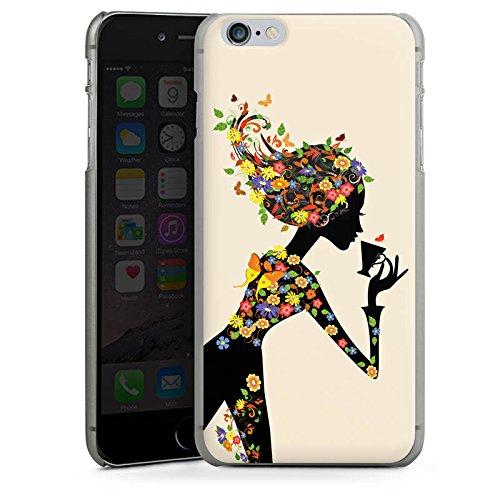 Apple iPhone 4 Housse Étui Silicone Coque Protection Café Fleurs Fleurs CasDur anthracite clair