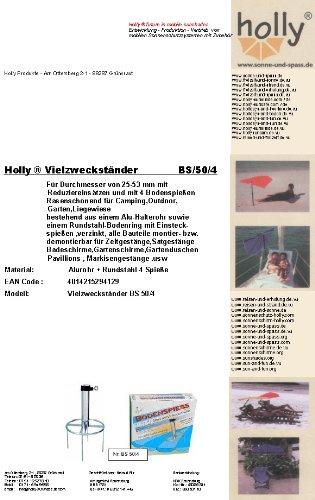 Stabielo Parasol en acier deutschem - - Gazon dorne - 80 µ galvanisé - Brochette sol N ° 50 - Le Stabielo® - Diamètre de l'anneau ø 300 mm - Fixation avec 4 Brochettes sol - Brochette Longueur 20 cm - support de parasol - Holly produits Stabielo® - Beaucoup de butständer avec bague de sol pour fixation de Écran Bâtons à 53 mm Ø - Innovations fabriqué en Allemagne - Holly-Sunshade® - Contenu de bar aussi pour étage Diamètre jusqu'à 25 mm - Voir ASIN - b00gmj s5nw - Prix de - Produits fabriqué en Bade Wurtemberg de