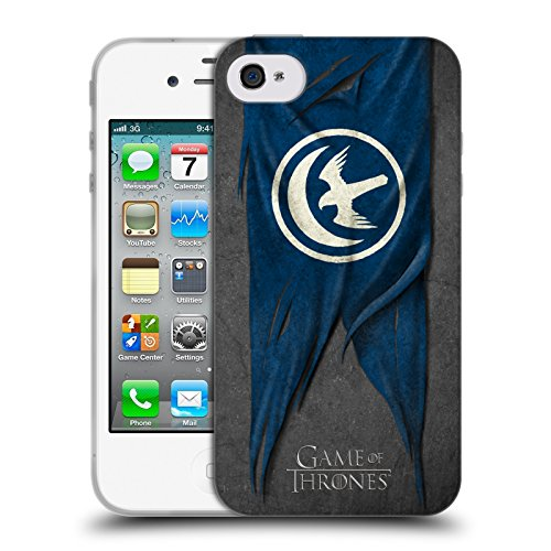 Offizielle HBO Game Of Thrones Lannister Sigil Flags Soft Gel Hülle für Apple iPhone 6 / 6s Arryn