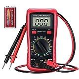 Multimetro Digitale,Offerta Economica,TOPELEK Multimetro Professionale Manual con Retroilluminazione LCD Display,Multi Tester DC/AC Voltaggio, Test Batteria Feature, Amp/Volt/Corrente /Continuità ecc