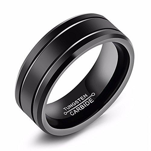Asma Tungsten steel Black Classic Style Charm Wedding Ring for Men