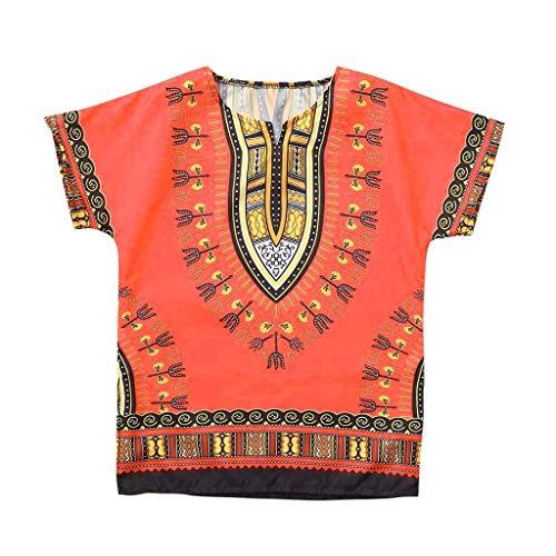 Tyoby Mädchenrock Ethnischer Stil, Individualität, farbenfrohe schöne Langer Rock(Orange,120)