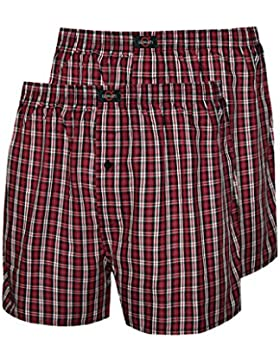 Schlafanzughose kurz Herren Pyjamahose kurz Herren kurze Pyjamahose aus 100% Baumwolle Model MoonLine, 2 Stück