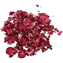 TOOGOO(R) 1 Bolsa de Petalos Secos de Rosa Natural para Boda Confeti