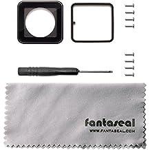 Fantaseal® Kit de Lente de Reparación Kit de Reemplazo de Gopro con Destornillador, Tornillo, Paño de limpia de Lente para Caso de GoPro Hero 4, Skeleton Shell Housing de Hero 4, GoPro Hero 3+