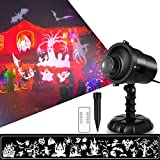 NACATIN Halloween Projector Lights, Decorations Light Outdoor with Remote, IP65 Waterproof Landscape Rotating Light UK Plug for Outdoor, Garden Patio, Party, Holiday,6W,Timer,2018 Upgrade Version