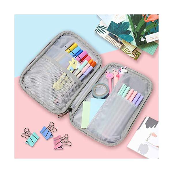 CPYang – Estuche portatodo para lápices, cosméticos, cosméticos, cosméticos, papelería, bolígrafos, pasaporte…