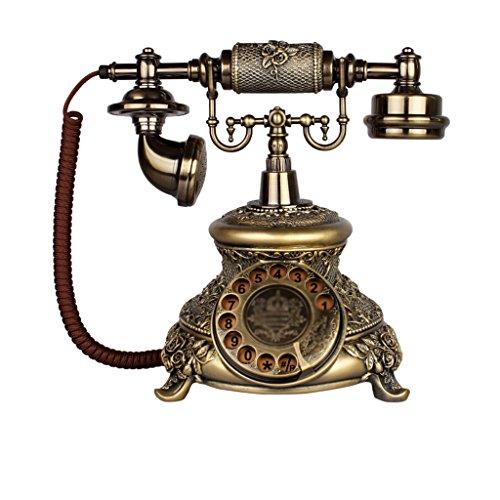 Telefon-europäisches Retro- Freisprechtelefon Hauptfestes örtlich festgelegtes Telefon Geschäfts-Büro verdrahtete Schreibtisch-Fertigkeit-Telefone 18 * 18 * 25cm (Farbe : A)