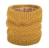 heekpek Calentador de Cuello Bufanda de Tubo Lazo para Hombre y Mujer Multifuncional Grueso y Cálido Bufanda y Gorra para Deportes de Invierno Desgaste de Pareja Fulares (Amarillo)