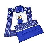 Ahorn KRAFTS Baumwolle Baby Bettwäsche Set Super angenehm weiches 0–24Monate Royal Blau mit Kissen