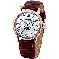 Time W80035G.03A - Orologio da polso da uomo, cinturino in pelle colore marrone