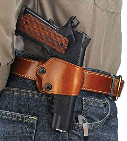 Galco Yaqui Slide Ceinture Holster pour 19113-inch-5-inch Colt, Kimber, para, Springfield, Kahr, Walther P22, Homme, peau