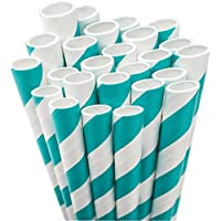Aardvark Paper Straws Unwrapped Jumbo, 20 cm, per bambini, 50 kg, colore: azzurro/bianco a righe