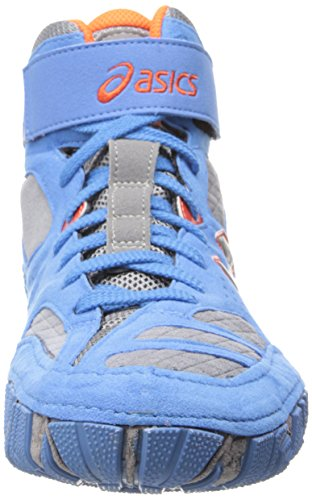Asics Aggressor 2 Hommes Chaussures Baskets de sport Pointure Dusty Blue/Silver/Red-Orange