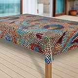 laro Wachstuch-Tischdecke Abwaschbar Garten-Tischdecke Wachstischdecke PVC Plastik-Tischdecken Eckig Meterware Wasserabweisend Abwischbar |14|, Größe:140x220 cm - 2