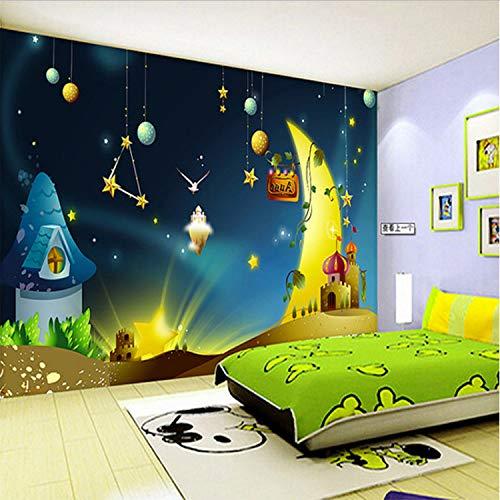 Fototapete Kinderzimmer Hintergrundbild Star Universe Jungen Und Mädchen Schlafzimmer Cartoon Tapete 300 (B) X210 (H) Cm - Tapete, Disney Kinder, Mädchen,