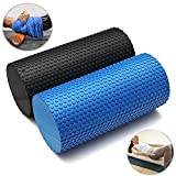 GEZICHTA Rodillo de espuma para músculos para terapia física y ejercicio – rollo y herramienta elástica, terapia física, ejercicio, masaje muscular de tejido profundo, azul