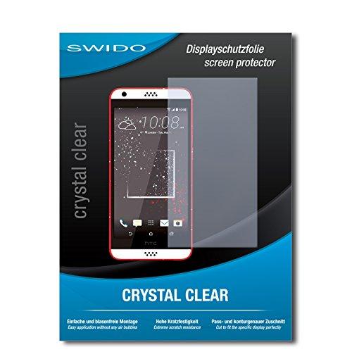 SWIDO Schutzfolie für HTC Desire 630 [2 Stück] Kristall-Klar, Hoher Härtegrad, Schutz vor Öl, Staub & Kratzer/Glasfolie, Bildschirmschutz, Bildschirmschutzfolie, Panzerglas-Folie