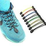 Youlala Lock Schnürsenkel Elastic No Tie Schnürsenkel, Sport Elastic Lock Schnürsenkel für Erwachsene und Kinder Laufen und Triathlon