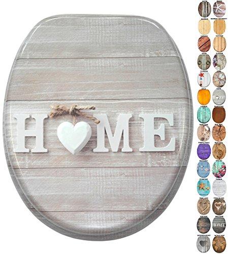 WC Sitz mit Absenkautomatik, viele schöne Holz WC Sitze zur Auswahl, hochwertige und stabile Qualität (Home)