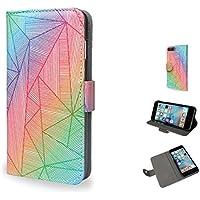 Create&Case iPhone 'Billy Rays' Künstler Zeichnung deluxe leder tasche / dünn Stil Mappenkasten hülle - Retail-Verpackung (iPhone 5/SE)