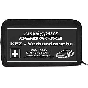 Auto Verbandskasten Verbandstasche KFZ Fahrzeug Zubehör Reise Verbandtasche DIN 13164 schwarz | first aid kit, black