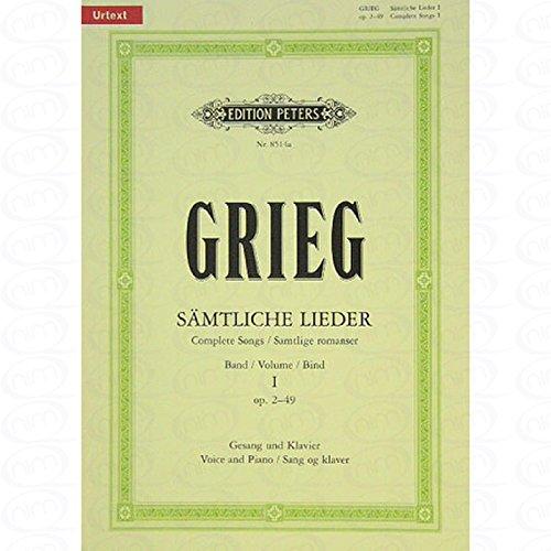 SAEMTLICHE chansons 1OP 2–49–arrangés pour Chant et d'autres Occupation–PIANO [Notes/sheetm usic] Compositeur: GRIEG EDVARD