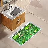 Wandtattoos wandaufkleber Wandbilder Tapeten Wandsticker-3D Boden Aufkleber Schlafzimmer Wohnzimmer Kreative Boden Aufkleber WC Badezimmer Wasserdicht Rutschfeste bodenfliesen Aufkleber