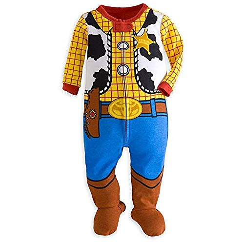 Disney Store Toy Story Woody Costume Little Boy Footed Sleeper Pajama 18-24 M - Footed Sleeper Pajamas