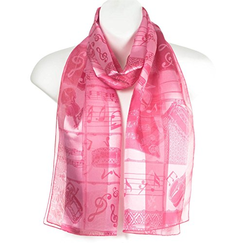 ladies-stripe-musical-instruments-notes-scarve-scarf-pink