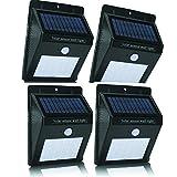 Solarleuchten Im Freien, Wireless 20 LED Solar Motion Sensor Lichter, Wasserdichte Sicherheitsbeleuchtung Für Outdoor-Wand, Hinterhof, Zaun, Garage, Garten, Auffahrt (4 Packungen)