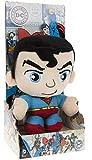 DC COMICS - Peluche con caja del personaje 'Superman' el héroe de la película, dibujos y cómics 'SUPERMAN' (18cm) - Calidad super soft