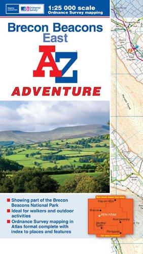Brecon Beacons (East) Adventure Atlas (A-Z Adventure Atlas) -