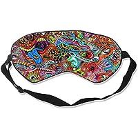 Natural Silk Eyes Mask Sleep Surreal Color Pattern Blindfold Eyeshade with Adjustable for Travel,Nap,Meditation... preisvergleich bei billige-tabletten.eu