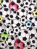Slantastoffe Interlockstoff Kinderstoff Fußball Breite 155